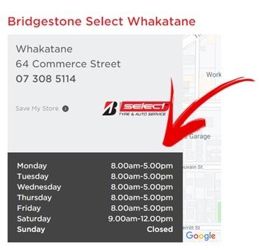Bridgestone Tyre Centre Nelson Opening Hours