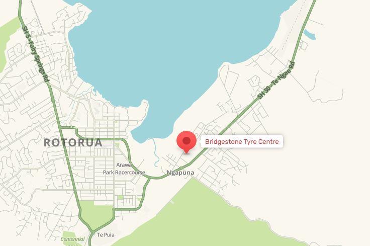 Bridgestone Rotorua Map