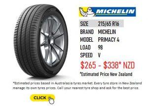 215/65 R16 MICHELIN PRIMACY 4