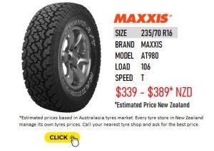 235/70 R16 MAXXIS AT980