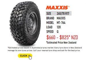 265/70 R17 MAXXIS MT 764