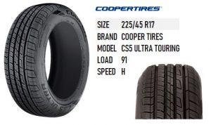 225/45 R17 CS5 ULTRA TOURING COOPER TIRES