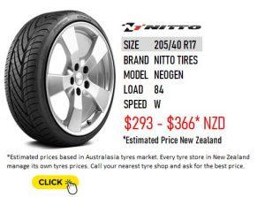205/40 R17 Nitto Tires NEOGEN