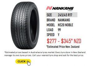 245/45 R17 NANKANG NS20 NOBLE