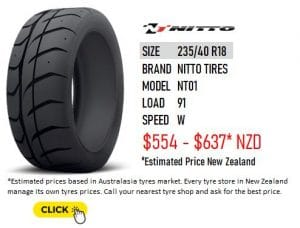 235/40 R18 Nitto Tires NT01
