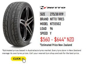 275/30 R19 Nitto Tires NT555G2