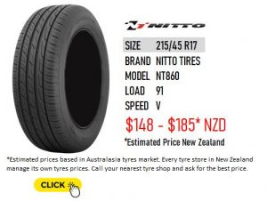 215/45 R17 Nitto Tires NT860