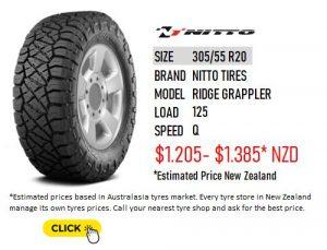 305/55 R20 Nitto Tires Ridge Grappler