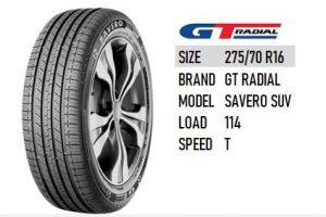 275/70 R16 GT RADIAL SAVERO SUV