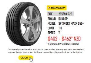 295/40 R20 DUNLOP SPORT MAXX 050+