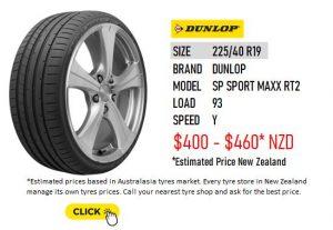 225/40 R19 DUNLOP SP SPORT MAXX RT2