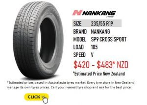 235/55 R19 NANKANG SP9 CROSS SPORT