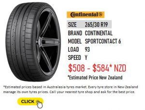 265/30 R19 CONTINENTAL SPORTCONTACT 6