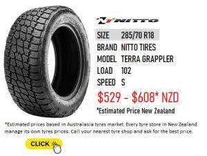 285/75 R18 Nitto Tires Terra Grappler